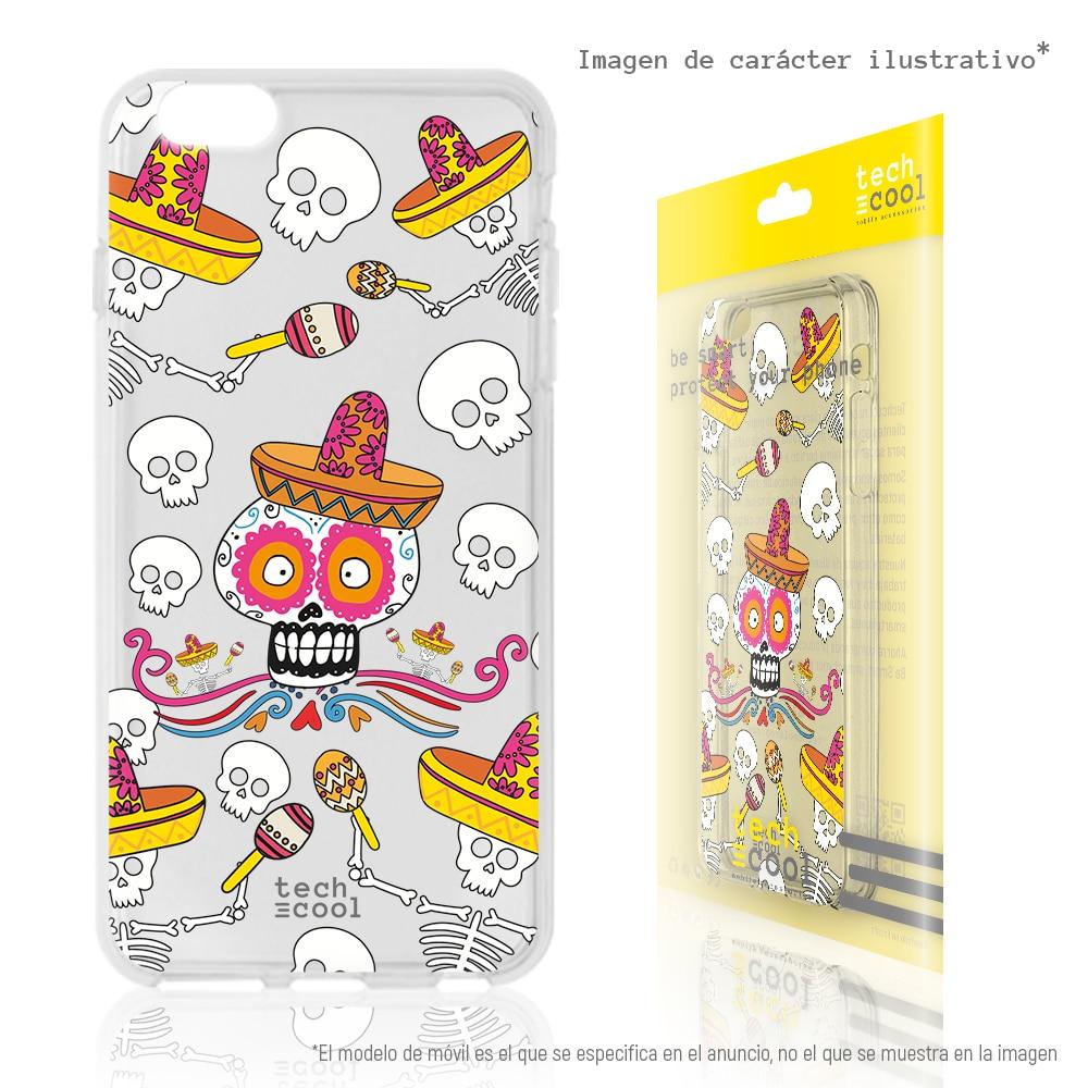 FunnyTech® Funda Silicona para Xiaomi Redmi 5 Plus l Calaveras México Dibujos Coco transparente