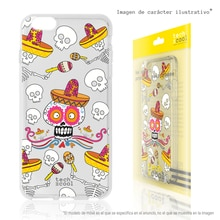 FunnyTech®Silicone Case for Xiaomi Mi Max 3 l skulls Mexico cartoon coconut transparent