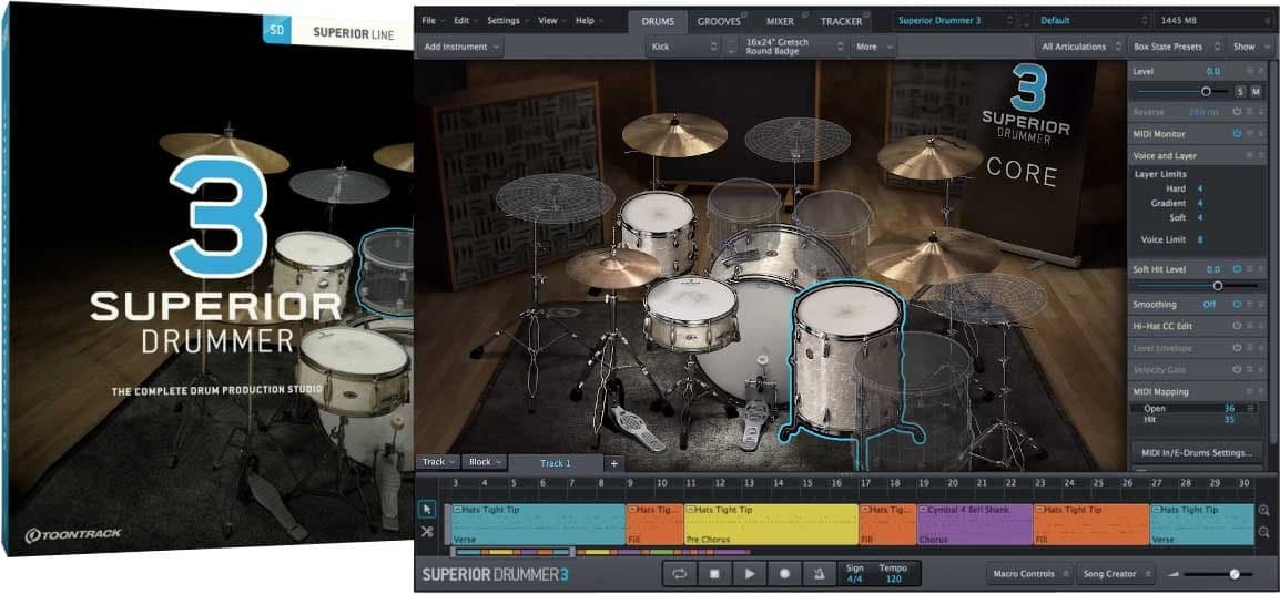 SUPERIOR DRUMMER 3 (2020) + ALL 18 EXPANSIONS - TOONTRACK (Windows )