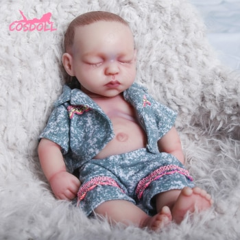 Reborn doll 31cm 1.05kg 100%Silicone bebe reborn doll realistic baby toy for children's Baby Toys Kid Gifts bonecas reborn #08