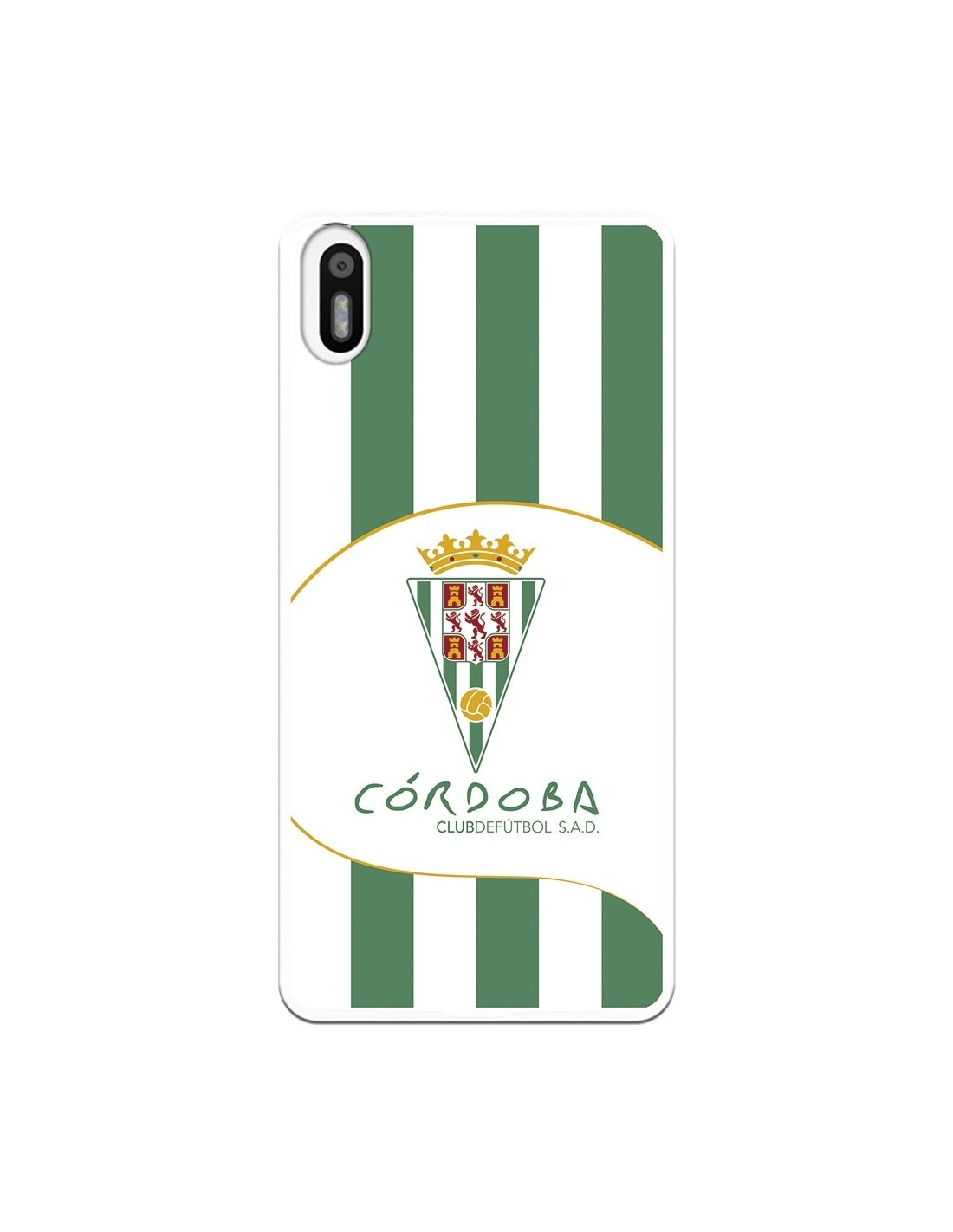 Bq Aquaris X5 Córdoba CF grün und weiß stripes abdeckung fall-Córdoba CF offizielle lizenz