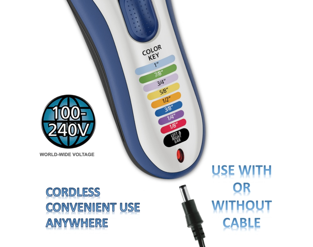 WAHL Model 9649 Color Pro - Cordless Hair Cut Machine Kit, Cordless Hair Clipper, 21 Piece Hair Cutting Kit, Shaver enlarge