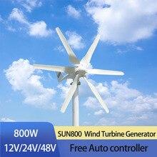 FLTXNY-éolienne horizontale blanche 12v/ 24v/48v 800w   Pour toit de lampadaire de bateau de maison