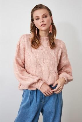 Powder Knit Detailed Knitwear Sweater