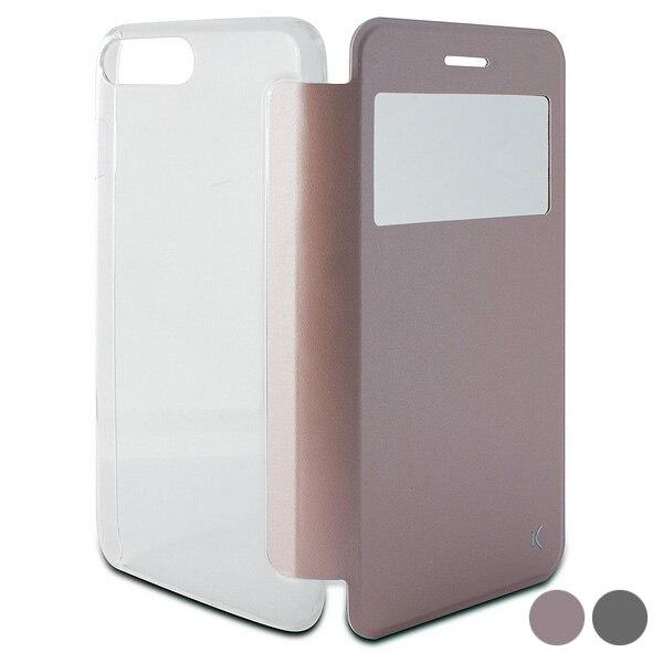 Capa de telefone móvel folio iphone 8 plus/7 plus ksix cristal vista
