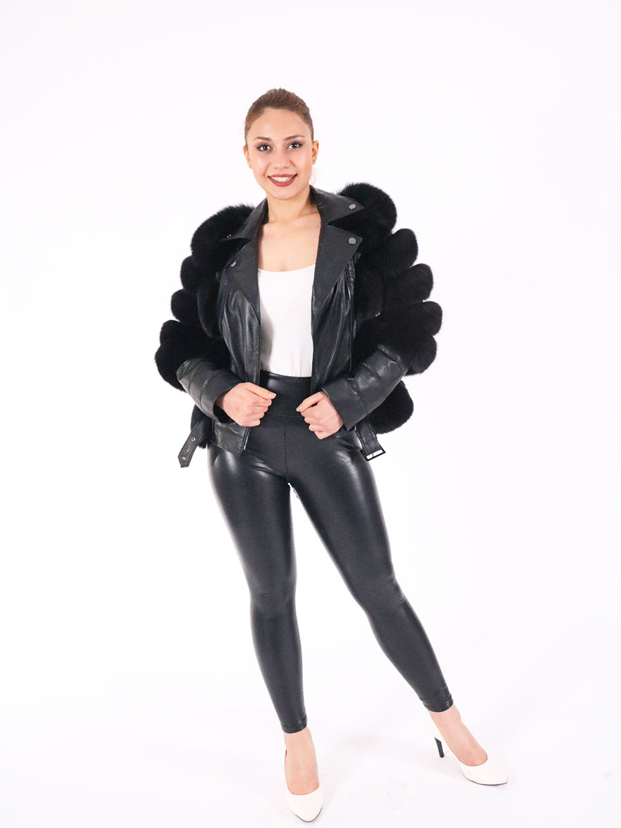 Winter Fashion Women Genuine Fox Fur Coats With Genuine Sheepskin Leather Whole skin Natural Fox Fur Coat Luxury Outwear 2021