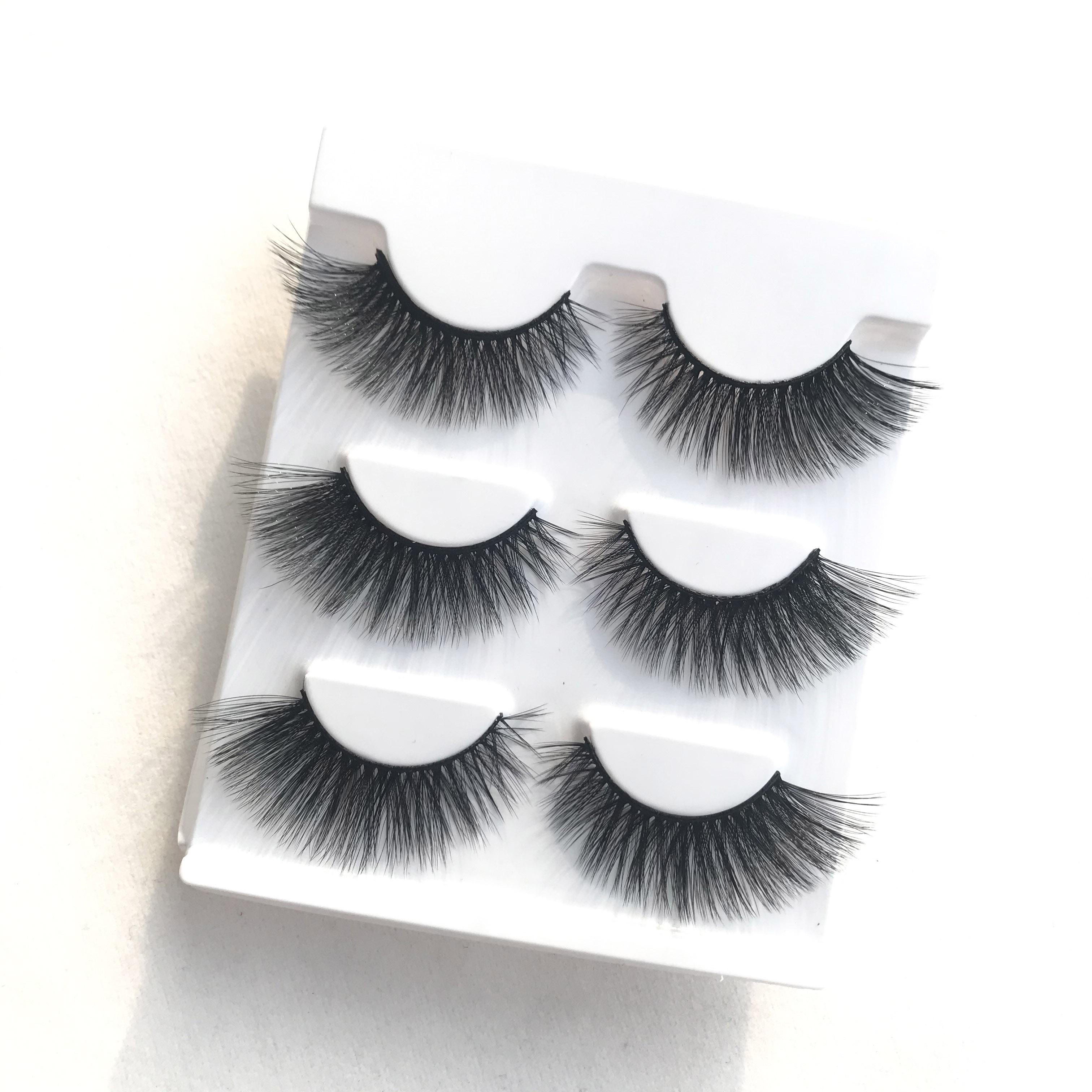 3 Pairs High Quality Silk False Eyelashes Thick Black Messy 3D Eye Lashes Art Performance Makeup Fak