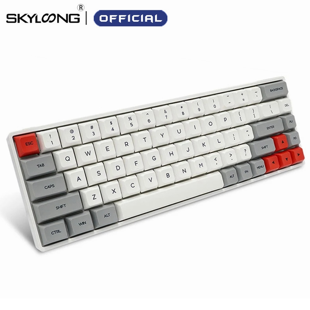 Get SKYLOONG SK68 PCB Mechanical keyboard Wireless Bluetooth Gaming Keyboard Hot Swappable ABS Keycaps Detachable Cable For Win  Mac