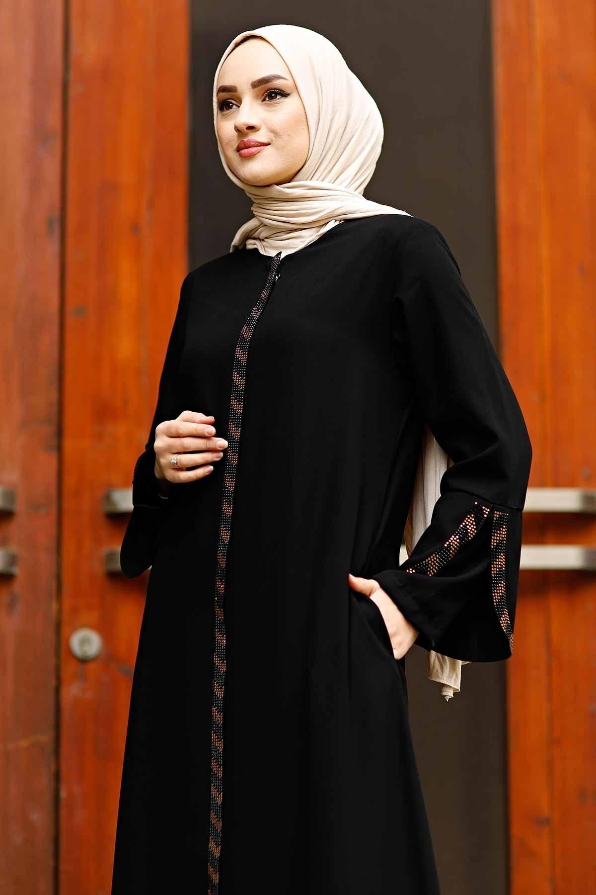 الجبهة انغلق الأسلحة عباءة الحجر تركيا مسلم موضة ملابس الإسلام دبي اسطنبول istanbulstyle 2021