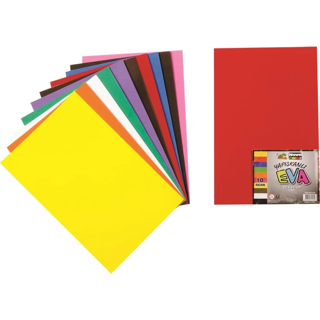 Tonar 10'Lu Eva Papers Simsiz Adhesive Hand Handwork Supplies School Supplies Stationery Product Types