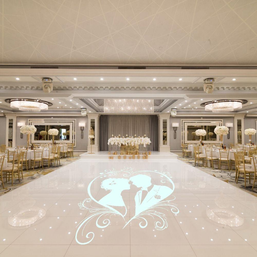 Couple Inside of Heart Design Floor Sticker Decal Wedding Sticker Wedding Hall Floor Art Decoration  A00808