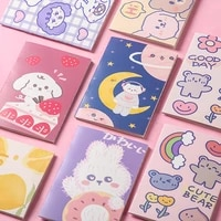 4pcs bag environmental cute cartoon cover multi style notebook christmas fruits animals diary for school supplies e41