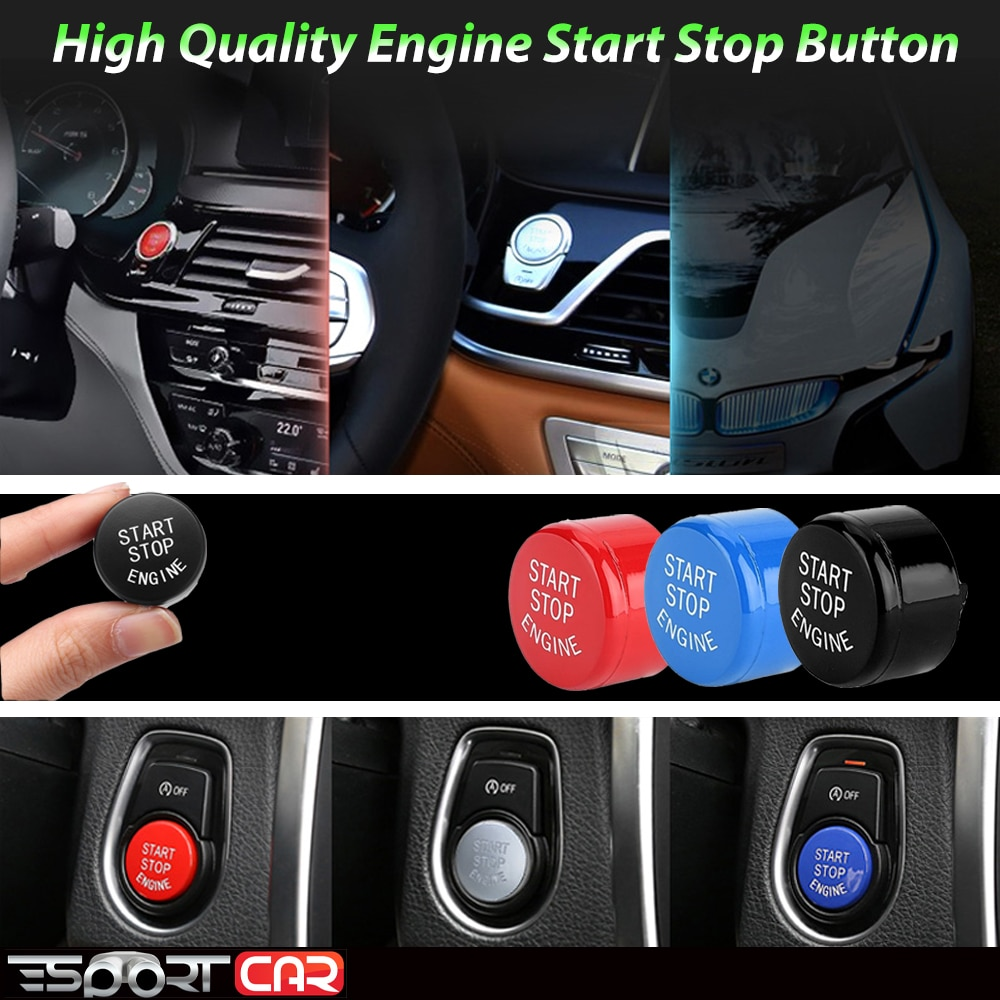 New ENGINE START STOP Switch Button Sticker For b mw F30 F32 F36 G30 G38 F25 G05 G20 F21 F23 F39 F15 G32 F10 F18 F01 F02 F52