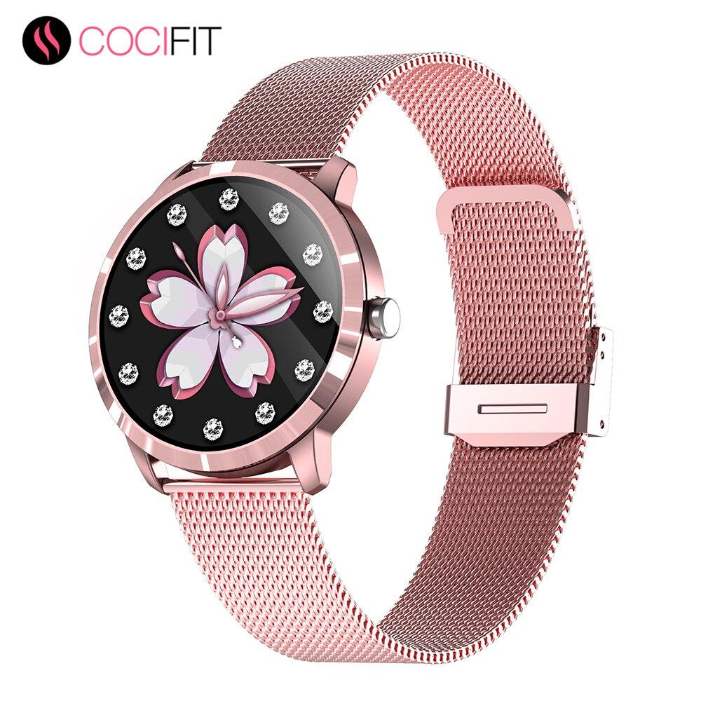 COCIFIT Q8L Smart Watch Women Touch Screen Wearable Devices -- 39mm Diameter Smartwatch For Women Cu