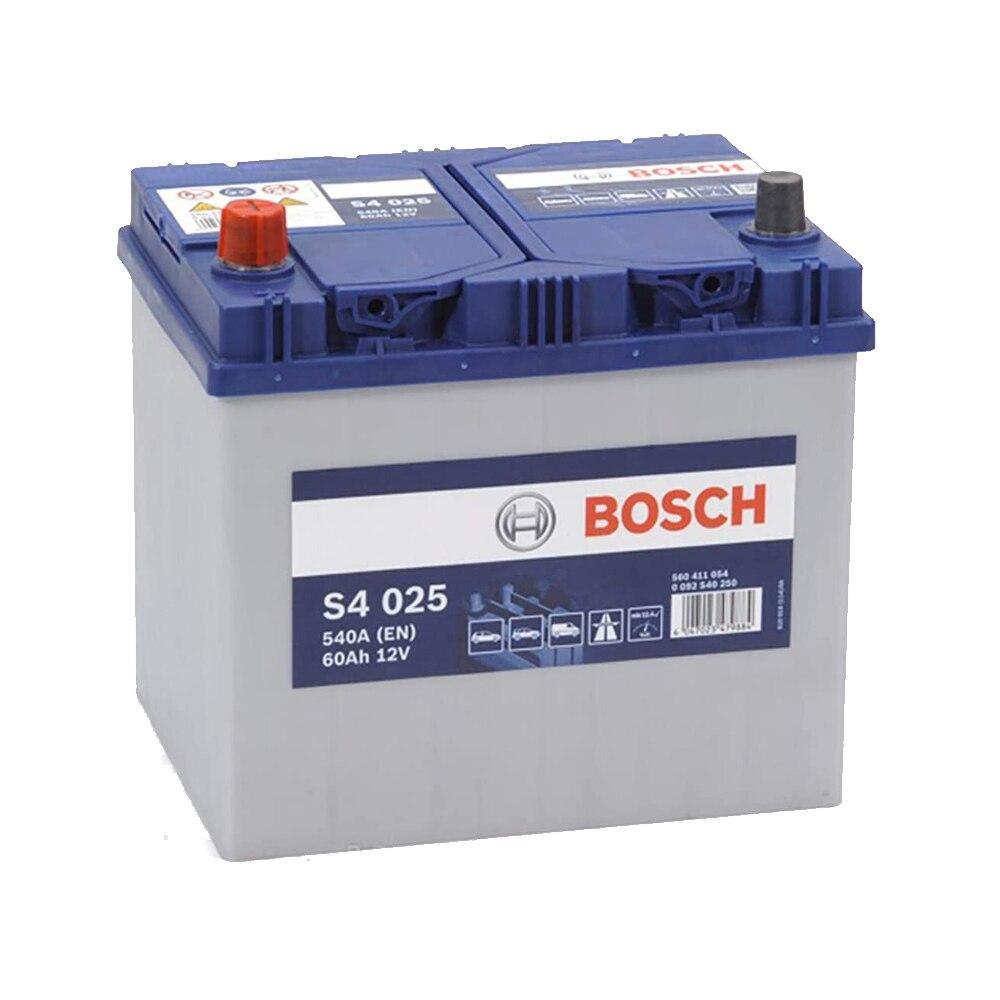 Bosch S4025 Batería de coche -12 V 60Ah 540A (EN) - Positivo a la  Izquierda - Medidas 23,2 X 17,3 X 22,5