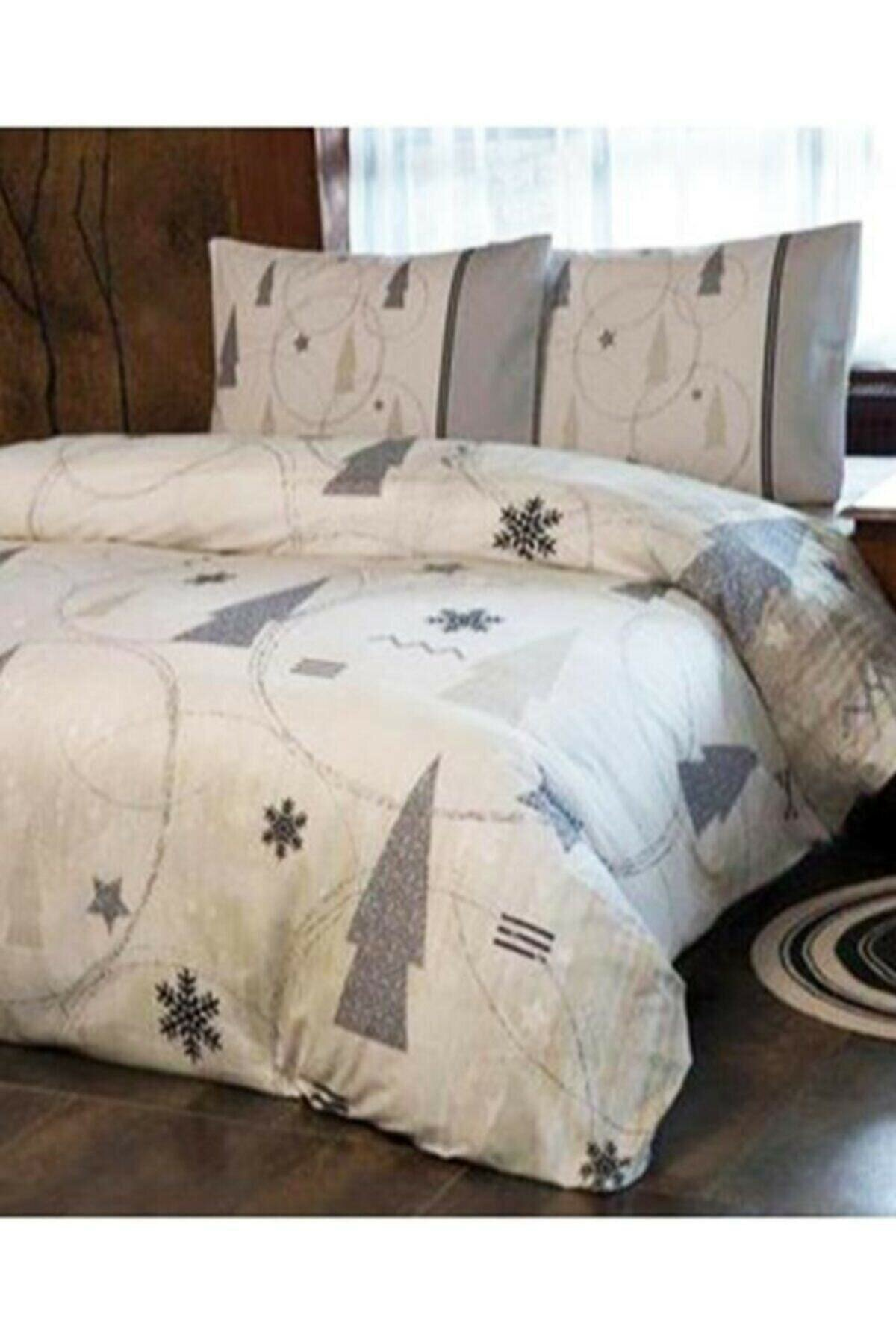 Özdilek شتوي Joy مزدوج مجموعة غطاء لحاف شتوي, بدون مرونة, 200x220 سم, قطن, لون بيج, 100% صنع في تركيا
