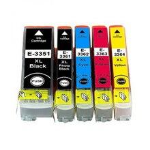 5 tinte cartriges 33XL Modell 33 XL T3351 T3361 T3362 T3363 T3371 Kompatibel mit epson drucker XP-530 XP-630 XP-635