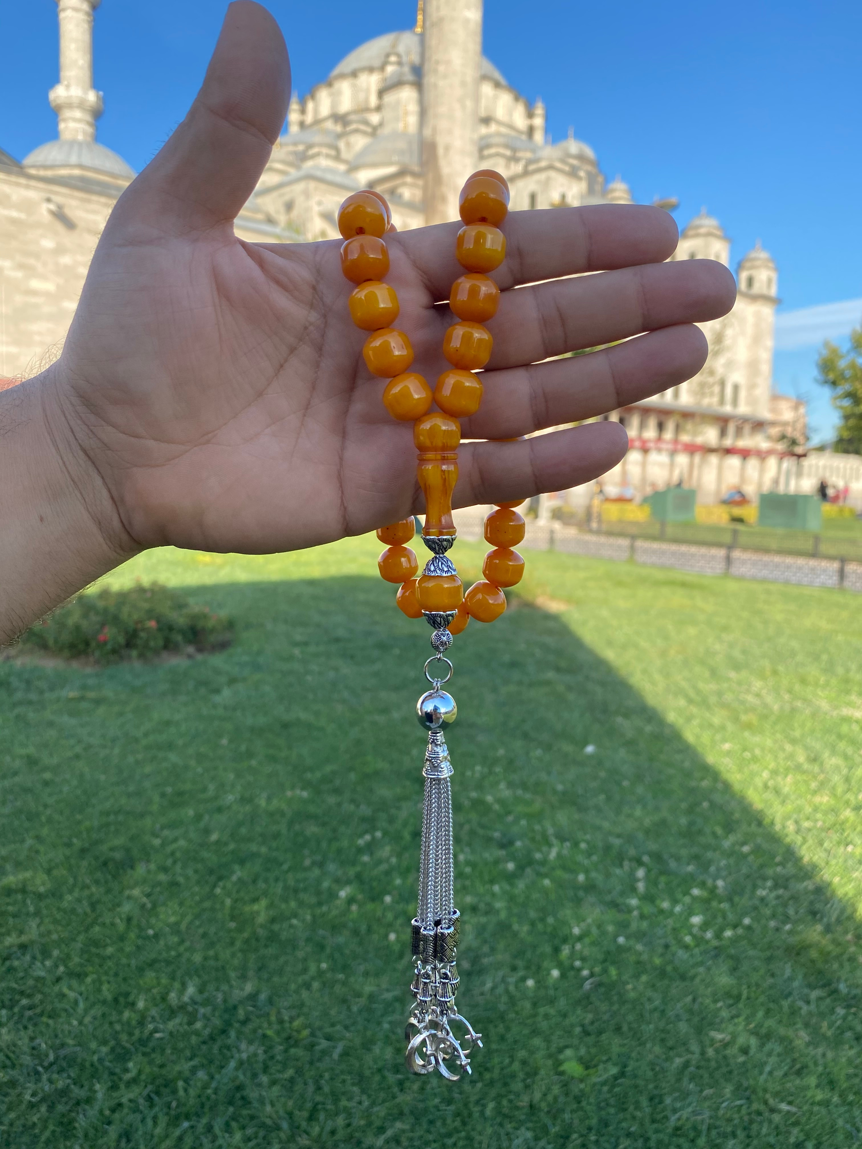 İslam Ottoman Kahraman Faturan German Cherry Amber Sandalous Misbaha Rosary Free Shipping Tasbih Tesbih İslamic Arabic Gift #44C