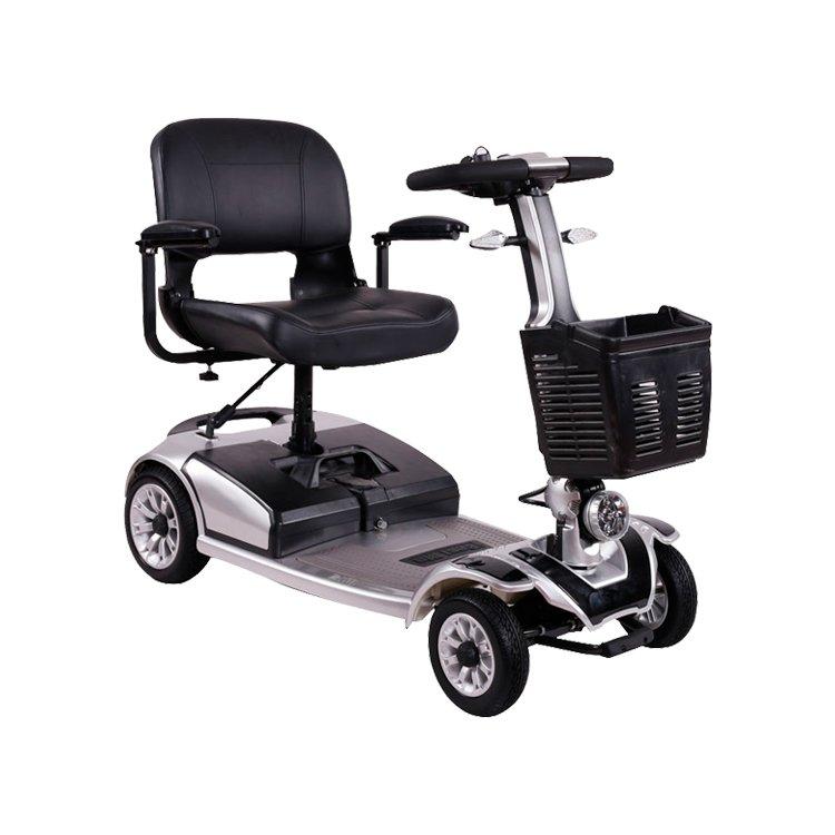 [ESPAÑA] Scooter Eléctrico para personas mayores de cuatro ruedas, scooters eléctricas ancianos discapacitados plegable