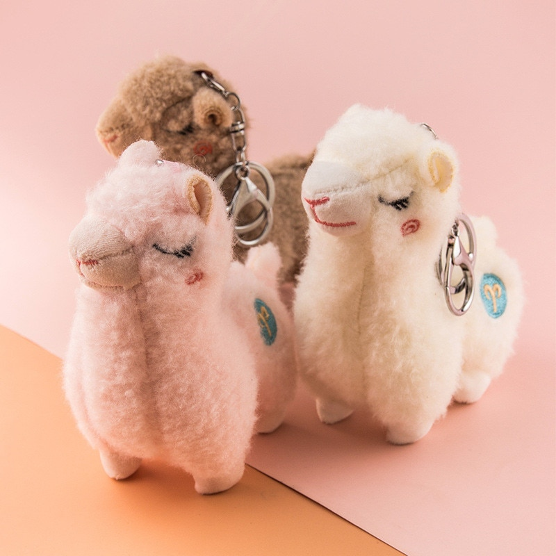 28cm alpaca stuffed toys children tv 13CM Height Sheep Alpaca Llama Plush Toy Animal Plush Stuffed Toys key chain Plush Dolls Gifts for Children