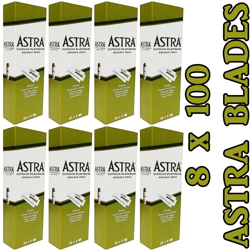 Astra Double Edge Razor Blades 8 Pack/800 Pcs