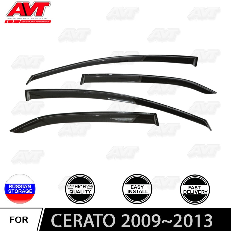 Window deflectors for Kia Cerato II 2009~2013 1 set-4 pcs car styling wind decoration guard vent visor rain guards cover
