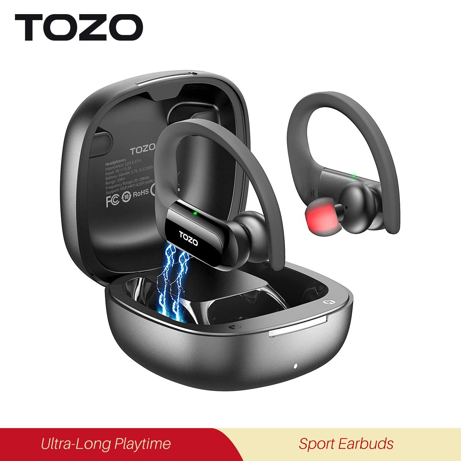 TOZO T5 Bluetooth Headphones True Wireless Earphones Sport Touch Control Bass Earbuds TWS Headset Fo