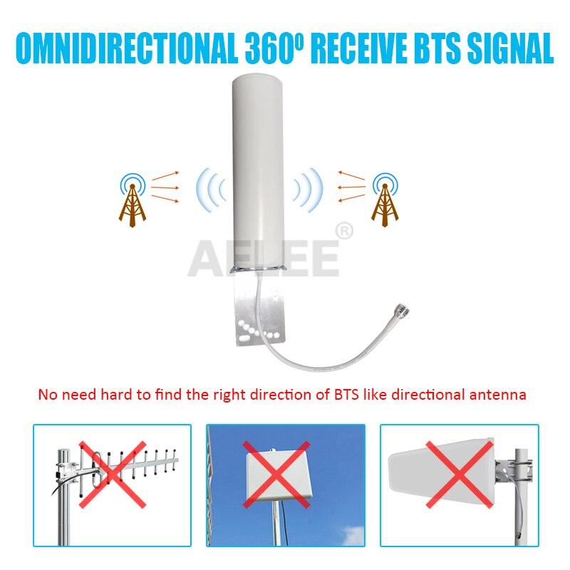 4g LTE antena 13dBi 698-2700mhz al aire libre antena omnidireccional antena wifi antena gsm 2G 3G 4G señal de móvil GSM de refuerzo