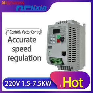 VFD Inverter 1.5KW/2.2KW/4KW Mini frequency Converter ZW-AT1 3P 220V or 3P Delta 380V Output with small shipping free