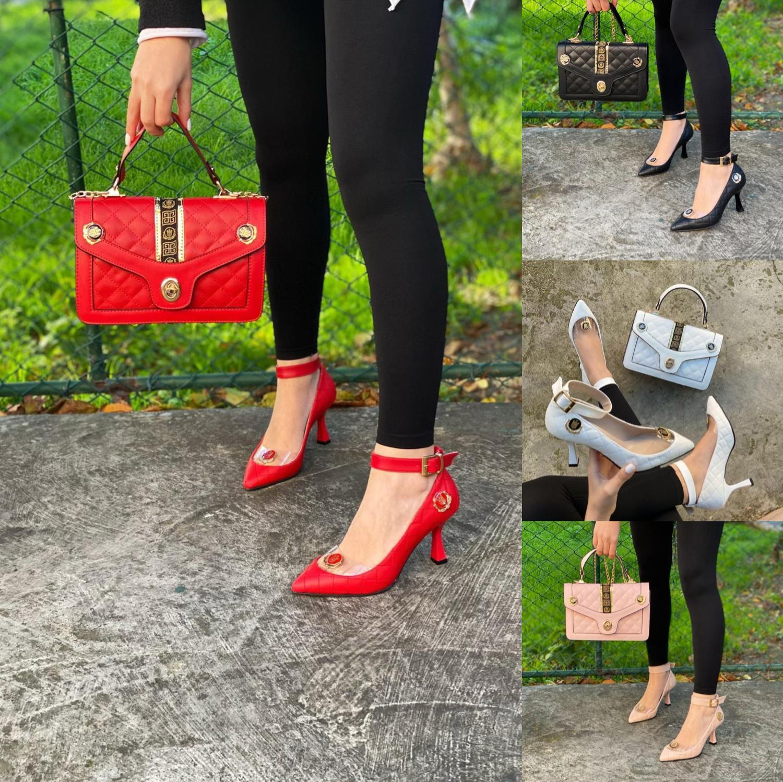 Miss Melisa-طقم أحذية وحقائب مناسبات خاصة ، طقم نسائي مرصع بالحجارة ، TS131