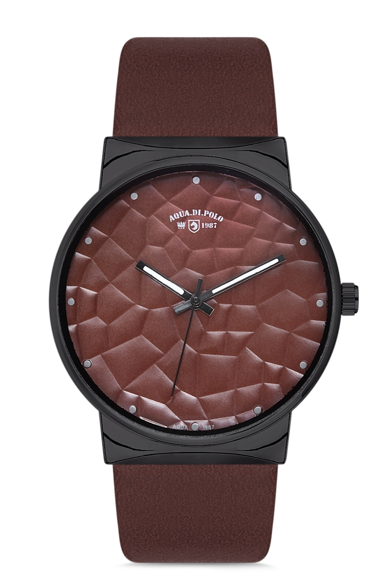 Reloj de pulsera Unisex de cuero Aqua di Polo 1987 APWA028904