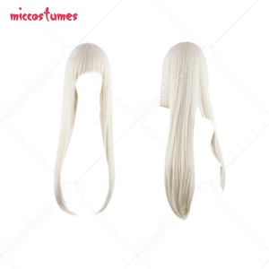 Gambler Runa Yomozuki Milk Yellow Long Cosplay Wig