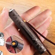 Allume-cigare de charge USB   Coupe-vent, allume-cigare, gravure bois de santal, double Arc, allume-cigare électronique, chargeur USB