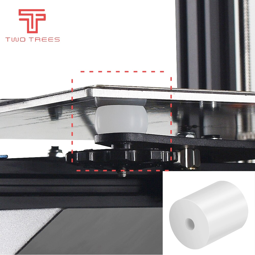 High Temperature Silicone Solid Spacer Hot Bed Leveling Column  For CR-10 CR10S Ender-3 PRO Prusa I3  3D Printer Parts