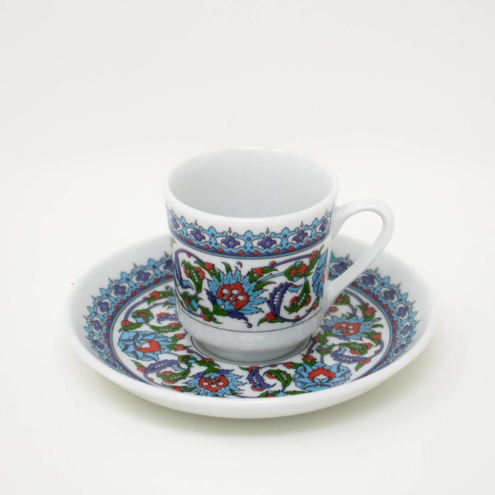 Güral tasse et sous-tasse de café   En porcelaine turque
