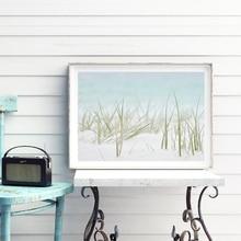 Impression de paysage docéan   Décor de plage, nautique de plage, peinture murale de toile dart, affiche botanique murale, photo de décor de maison