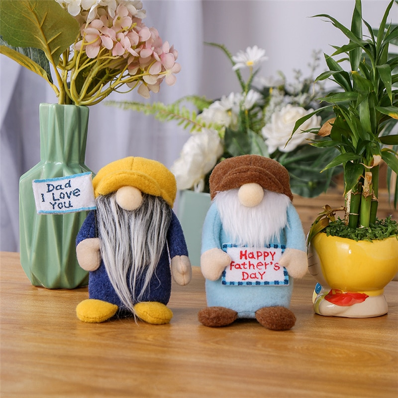 1PCS Thanksgiving For Father's Day Big Nose Mustache Doll Best Papa Father Party Supplies Decoration Dad Toys Gifts E82