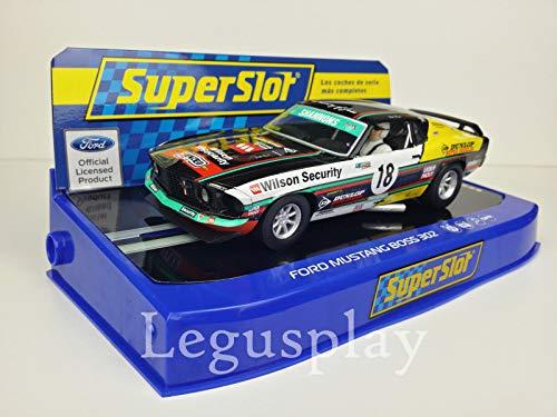 Slot SCX Scalextric Superslot H3728 Ford Mustang Boss 302 1969 John Bowe No.18
