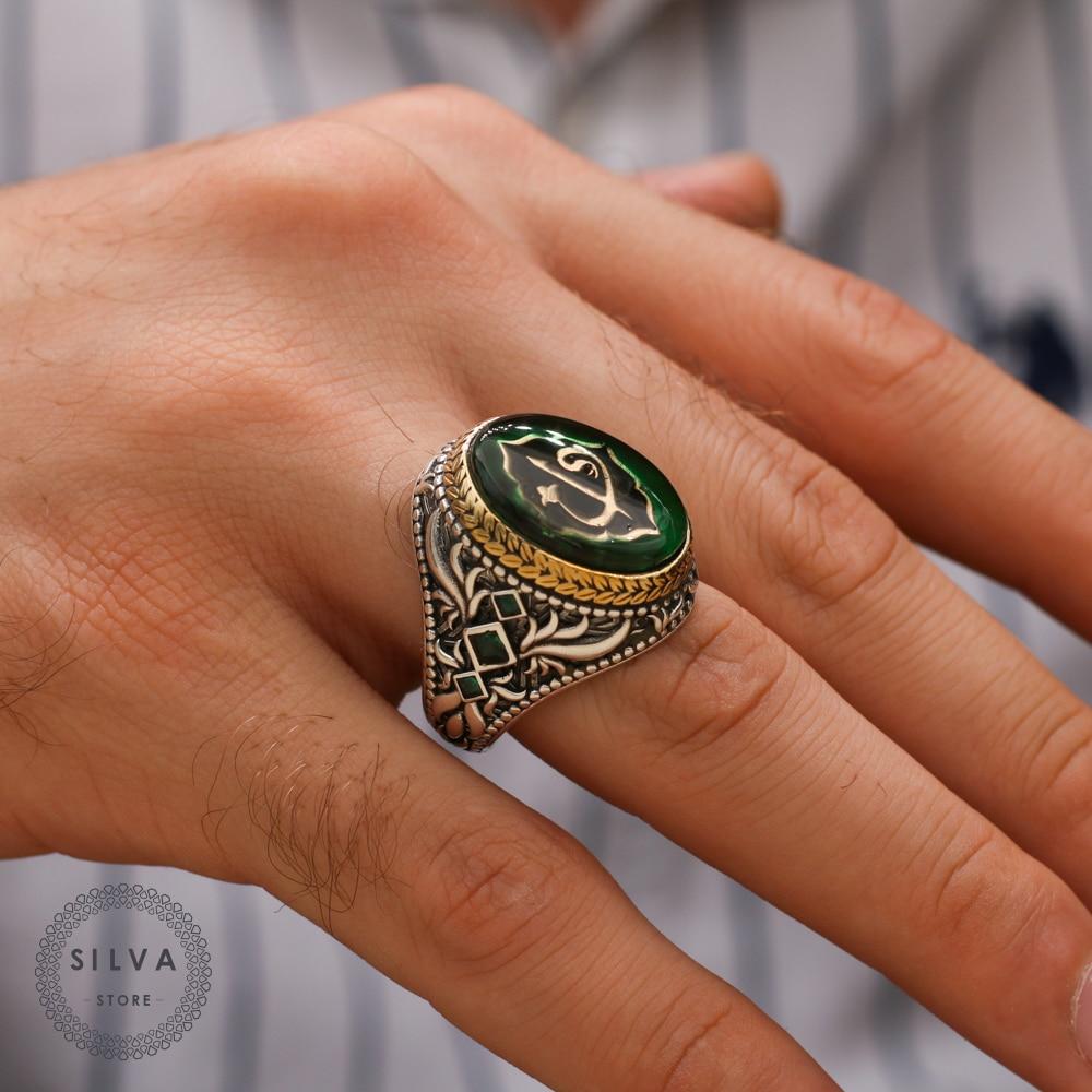 خاتم رجالي فضة عيار 925 مجوهرات رجالية مختوم بختم الفضة 925 جميع القياسات متاحة