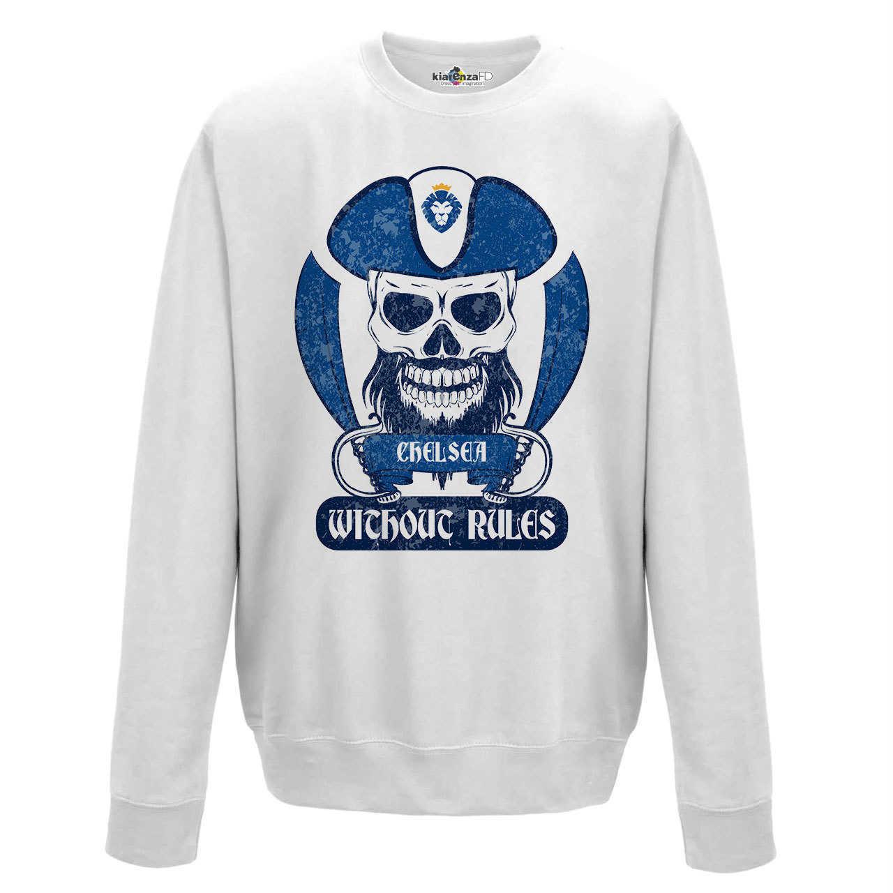 Sudadera de cuello redondo de fútbol pirata Fans Chelsea Ultras Blues 2 S