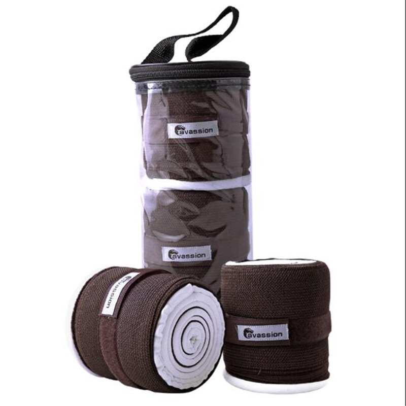 Cavassion Equestrian Elastic Bandage Horses are used at night.Treatment of horse swollen legs two-in-one using