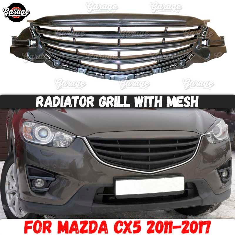 Coque de calandre avec maille pour Mazda CX5   Accessoires en plastique ABS, kit de protection de carrosserie, réglage de style de voiture