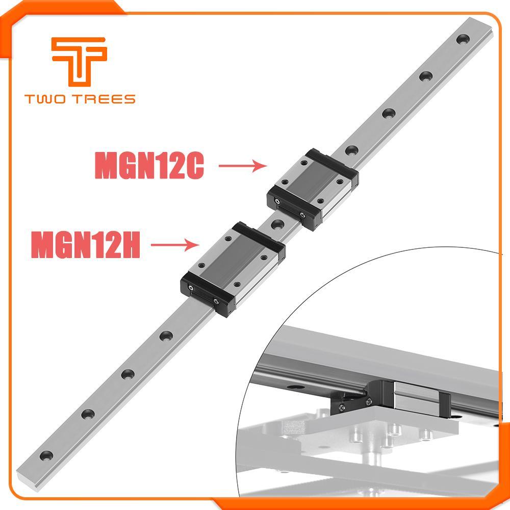NEUE 3D Drucker Linearführung Core xy MGN12 100 150 200 250 300 350 400 450 500 550 600mm linear schiene + MGN12C oder MGN12H wagen