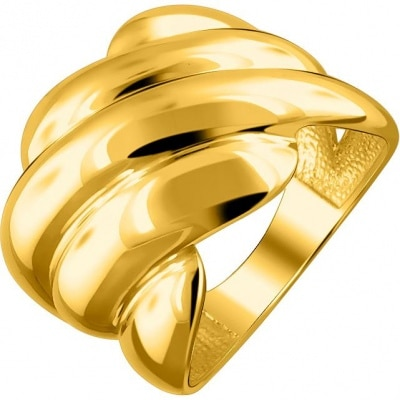 Anillo Cuz Delta hecho de plata con dorado