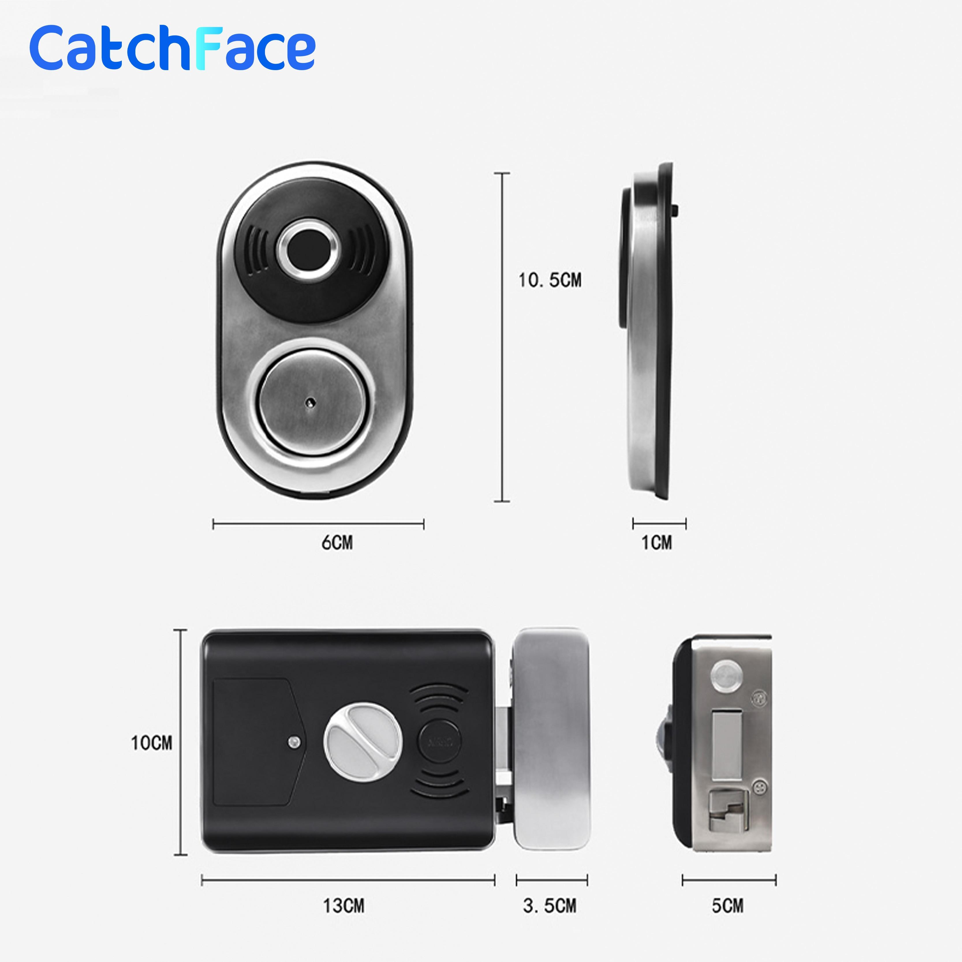 Biometric Fingerprint Lock Waterproof Smart Door Lock Rfid Card Keyless Electronic Door Lock for Security Home Garden Gate door