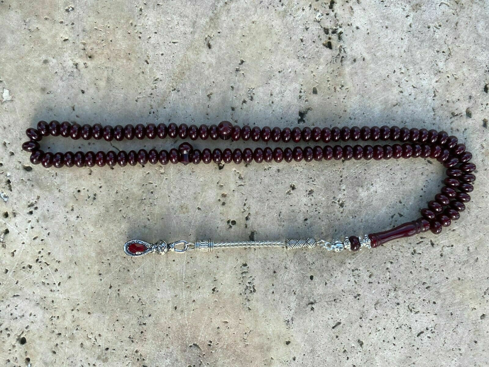 Ottoman Faturan German Amber Sandalous Misbaha Prayer Beads Islamic Gift Tasbih Tasbeeh Tasbeh Rosary Tasbih # 18E
