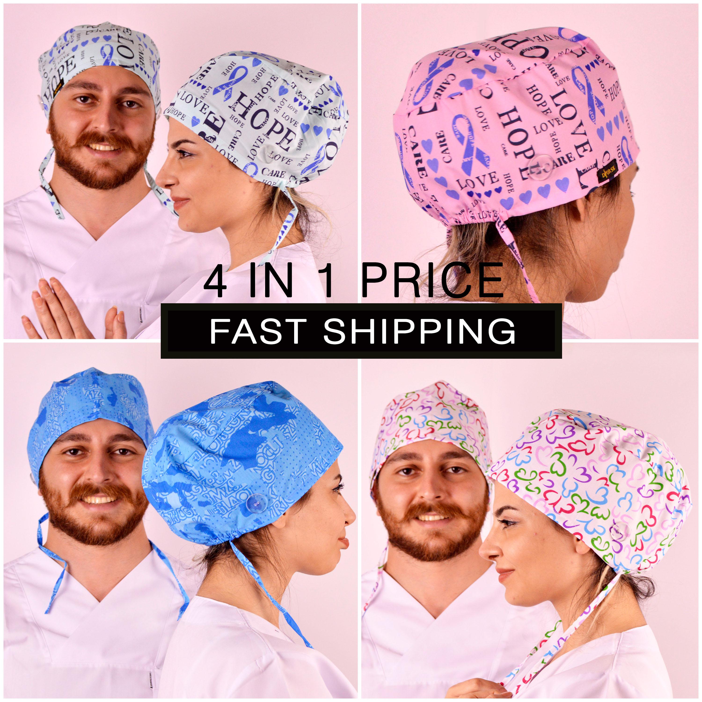 Набор из 4 шт. и выше, скраб-кепки с пуговицами, скраб-кепки для женщин, женские кепки, кепки, скраб-кепки, op haube