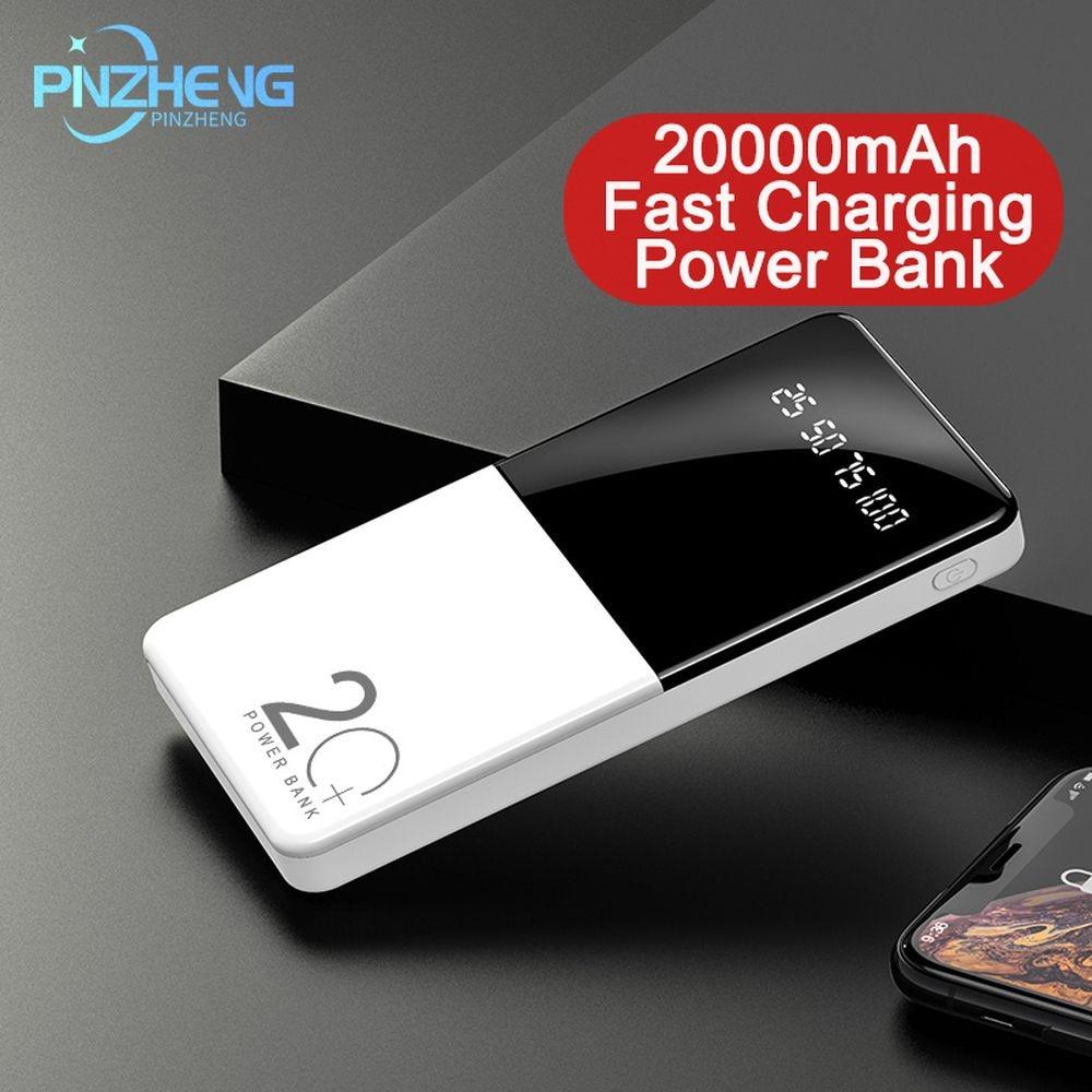 PINZHENG-بطارية خارجية محمولة سريعة الشحن ، 30000 مللي أمبير ، PD3.0 ، شاحن لهاتف iPhone Xiaomi Mi9 8