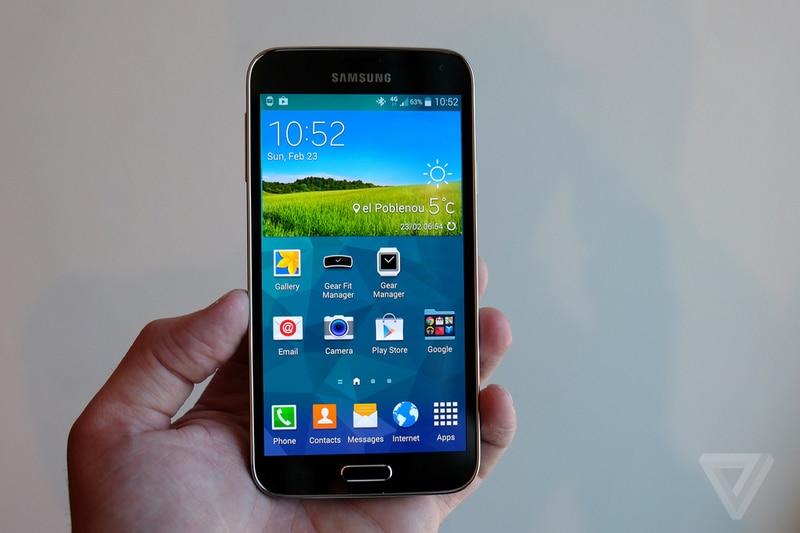 Samsung-teléfono inteligente Galaxy S5 G900F G900A, teléfono móvil libre con pantalla de...