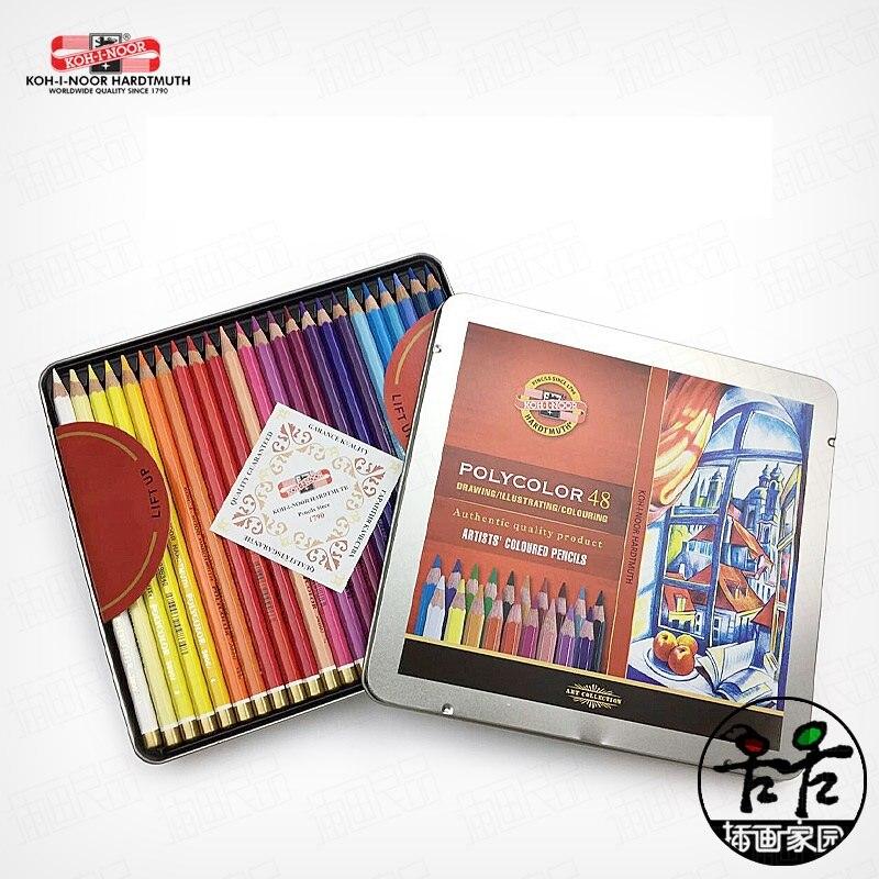 Checo: importación KOH-I-NOOR 48-color grasa, color para colorear lápiz de color lápices...